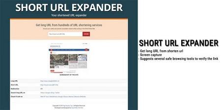 اسکریپت کوتاه کننده لینک Short URL Expander نسخه ۱٫۰