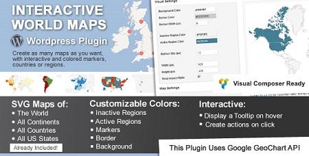 افزونه Interactive World Maps ایجاد نقشه کشورها در وردپرس نسخه ۲٫۰٫۲