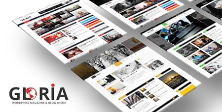 پوسته چندمنظوره و مجله خبری Gloria وردپرس نسخه ۱٫۷٫۳