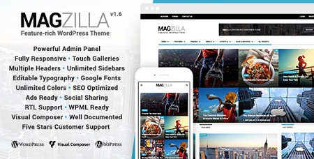 پوسته مجله خبری MagZilla وردپرس نسخه 1.6.0