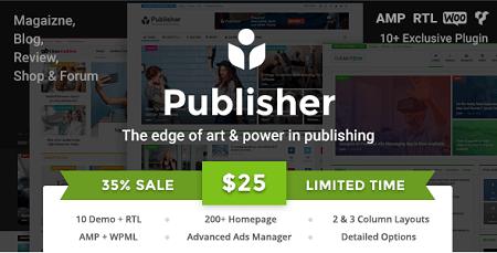 پوسته مجله خبری Publisher وردپرس نسخه ۱٫۹٫۳