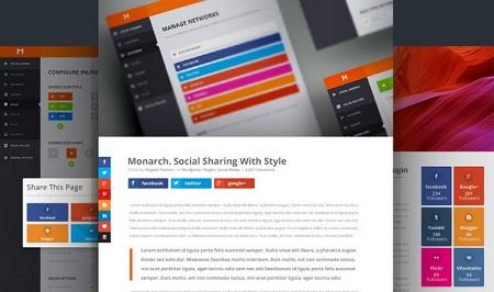 افزونه Monarch اشتراک گذاری مطالب وردپرس در شبکه های اجتماعی نسخه 1.4.3