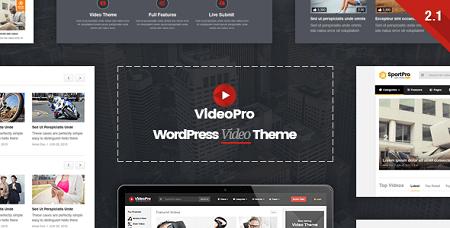 پوسته VideoPro سرویس اشتراک و پخش ویدئو در وردپرس نسخه ۲٫۲٫۱