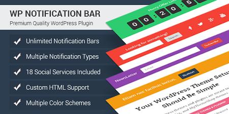 افزونه WP Notification Bar نوار اعلان وردپرس نسخه ۱٫۱٫۱۱