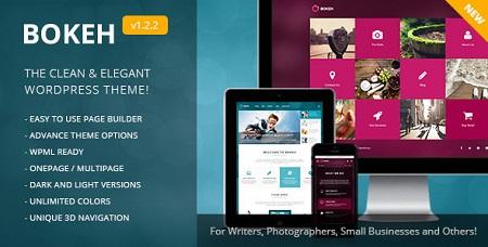 پوسته وبلاگی و شرکتی Bokeh وردپرس نسخه ۱٫۵٫۲