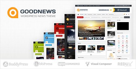 پوسته خبری Goodnews وردپرس نسخه ۵٫۹٫۲