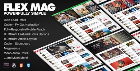 پوسته مجله خبری Flex Mag وردپرس نسخه ۲٫۰٫۱