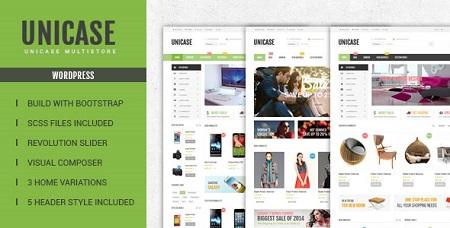 پوسته فروشگاهی Unicase ووکامرس نسخه 1.5.0
