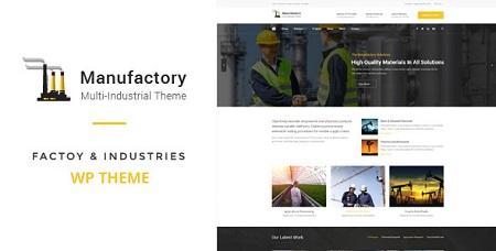 پوسته شرکتی و چندمنظوره Manufactory وردپرس نسخه 1.0