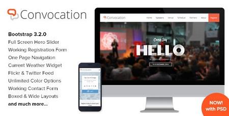 قالب HTML کنفرانس و رویدادها Convocation نسخه 1.2