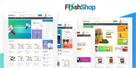 پوسته فروشگاهی و چند منظوره Flashshop نسخه 1.0.1