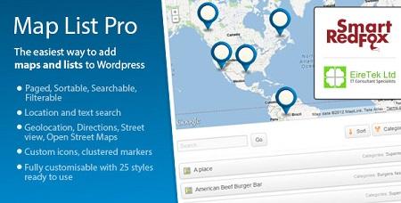 افزونه فارسی Map List Pro ایجاد نقشه گوگل در وردپرس نسخه ۳٫۱۲٫۹