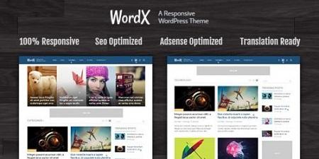 پوسته وبلاگ و مجله خبری WordX وردپرس نسخه 1.2.8