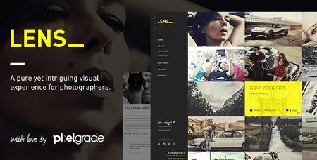پوسته عکاسی و گالری تصاویر LENS وردپرس نسخه ۲٫۵٫۰