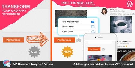 افزونه نمایش عکس و فیلم در نظرات وردپرس WP Comment Images and Videos نسخه 1.2