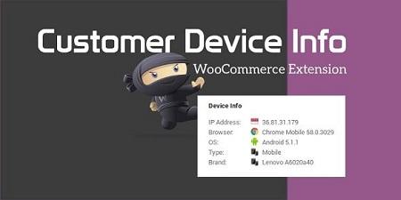 افزونه اطلاعات دستگاه مشتری Customer Device Info ووکامرس