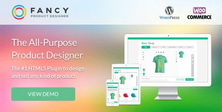 افزونه Fancy Product Designer طراحی آنلاین محصول ووکامرس نسخه 3.9.4
