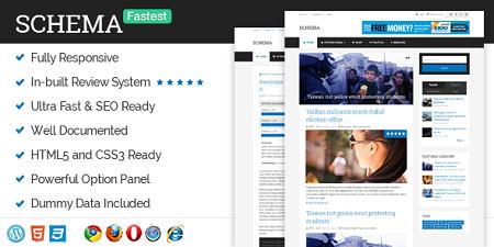 پوسته وبلاگ و سایت شخصی Schema نسخه 3.6.3