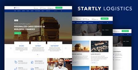 قالب HTML خدمات حمل و نقل Start.ly نسخه 1.0