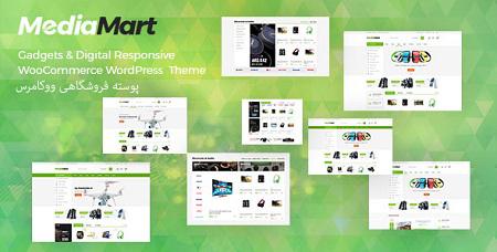 پوسته فروشگاهی لوازم دیجیتال MediaMart ووکامرس