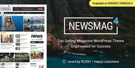 پوسته مجله خبری Newsmag نسخه ۴٫۹٫۱