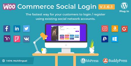 افزونه ورود به ووکامرس از طریق شبکه های اجتماعی WooCommerce Social Login نسخه 1.9.10