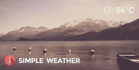 افزونه Simple Weather نمایش وضعیت آب و هوا در وردپرس نسخه 4.3.3