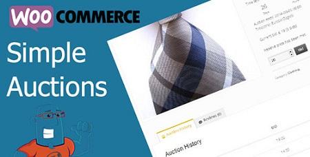 افزونه حراجی محصولات ووکامرس WooCommerce Simple Auctions نسخه 1.2.39