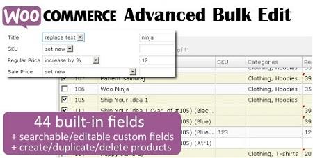 ویرایش گروهی محصولات ووکامرس با افزونه Advanced Bulk Edit نسخه 4.4.4