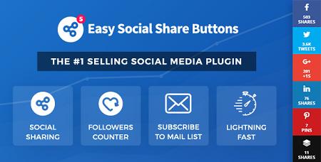 افزونه دکمه اشتراک گذاری مطالب Easy Social Share Buttons وردپرس نسخه 6.2